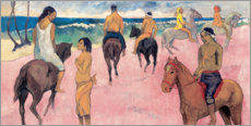 Premium poster  Rider on Beach - Paul Gauguin