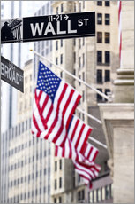 Gallery print  Wall street sign, New York Stock Exchange