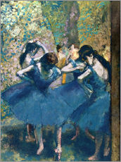 Wall sticker  The Blue Dancers - Edgar Degas