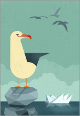 Wall sticker  Seagull - Dieter Braun
