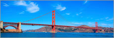 Wall sticker  panoramic view of Golden Gate Bridge