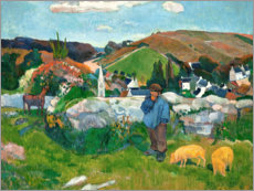 Premium poster  The swineherd - Paul Gauguin