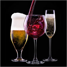 Gallery print  Beverages - Beer, Wine and Champagne
