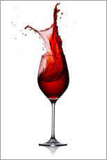 Wall sticker  Red Wine Glass