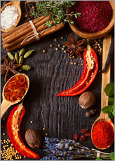 Gallery print  Hot spices and herbs
