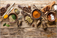 Gallery print  Spices and kitchen utensils