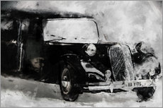 Gallery print  Classic Car - black - LoRo-Art