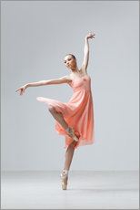 Wall sticker  Ballerina in apricot