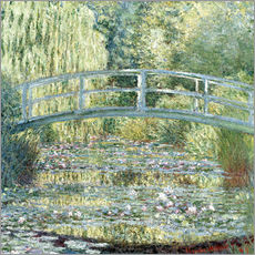 Gallery print  Water lily pond in green - Claude Monet
