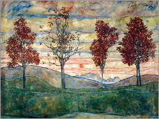 Gallery print  Four trees - Egon Schiele
