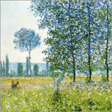 Gallery print  Under the poplar trees - Claude Monet