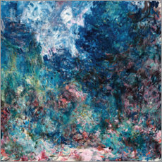 Wood print  The house of the artist - Claude Monet