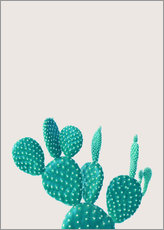Wall sticker  Turquoise cactus - Finlay and Noa