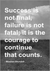 Gallery print  Winston Churchill on Courage - Finlay and Noa