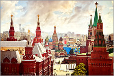 Gallery print  Aerial view of the Kremlin in Red Square, Moscow