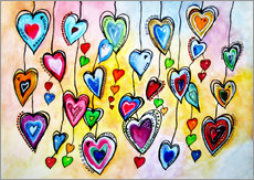 Gallery print  Awesome Colorful Hearts - siegfried2838