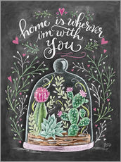 Wall sticker  Home is Wherever I'm with You - Lily & Val