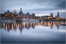Gallery print  Dresden old town at the blue hour - Philipp Dase