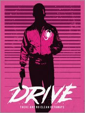 Gallery print  Drive Ryan Gosling movie inspired art print - Golden Planet Prints
