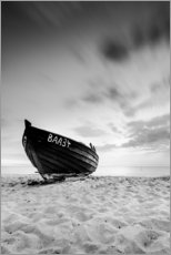 Gallery print  Lonely Boat - Black/White | Rügen | Germany - Kristian Goretzki