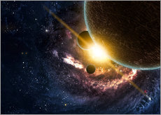 Gallery print  Planets in space