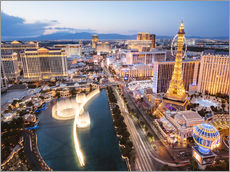 Gallery print  View on Bellagio fountain and the Strip, Las Vegas, Nevada, USA - Matteo Colombo
