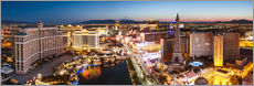 Gallery print  View on Bellagio and the Strip, Las Vegas, Nevada, USA - Matteo Colombo