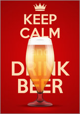 Wall sticker  Keep Calm And Drink Beer