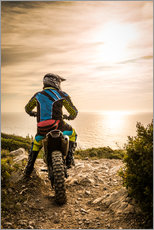 Wall sticker  Enduro racer on the coast