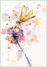 Gallery print  Dragonfly & dandelion - Sillier Than Sally