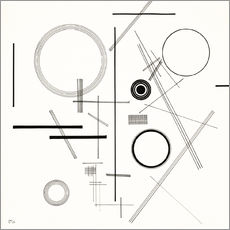 Wall sticker  Concentric Circles - Wassily Kandinsky