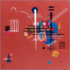 Wall sticker  dull red - Wassily Kandinsky
