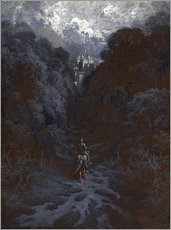 Wall sticker  Sir Lancelot Approaching the Castle of Astolat - Gustave Doré