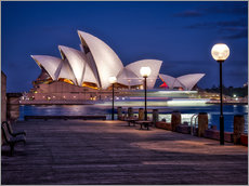 Wall sticker  A boat passes through the Sydney Opera House - Jim Nix