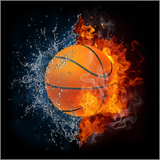 Gallery print  Basketball in the battle of the elements