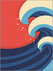 Wall sticker  The Great Wave