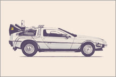 Wall sticker  Delorean - Florent Bodart