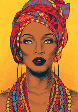 Gallery print  African tribal woman - Paola Morpheus