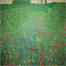 Canvas print  Field of poppies - Gustav Klimt