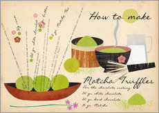Wall sticker How to Make Matcha Truffles