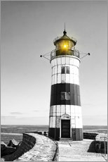 Wall sticker  Lighthouse with yellow light