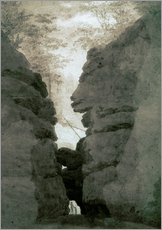 Gallery print  Rock gate Uttenwalder Grund - Caspar David Friedrich