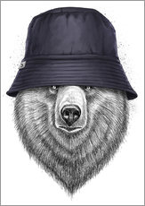 Wall sticker Bear in hat