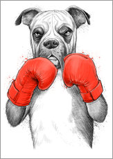 Wall sticker German boxer
