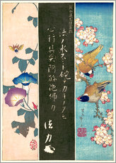 Wall sticker  Bird and Flower - Katsushika Hokusai