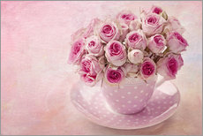 Wall sticker  Roses in a cup - Elena Schweitzer