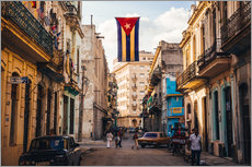 Gallery print  A Cuban flag with holes - Julian Peters