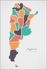 Wall sticker  Argentina map modern abstract with round shapes - Ingo Menhard