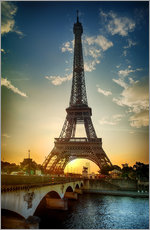 Gallery print  Eiffel Tower and Pont d'Iena on the Seine in Paris