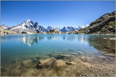 Wall sticker  Mont Blanc is reflected in Lacs des Chéserys, Chamonix, France - Roberto Sysa Moiola